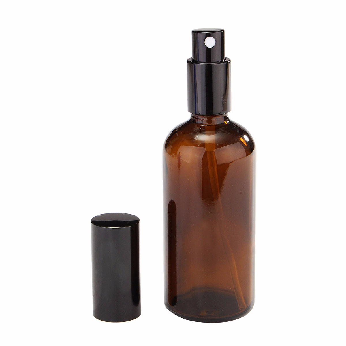New 1pcs 100ml Amber Glass Atomizer Bottle Vial For