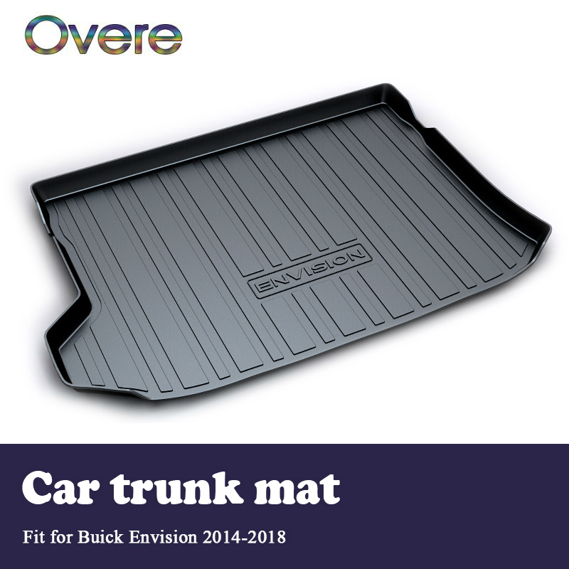 Overe 1Set Car Cargo rear trunk mat For Buick Envision 2014 2015 2016 2017 2018 Boot Liner Tray Waterproof Anti-slip accessories предупреждающие индикаторы pawaca rear end buick