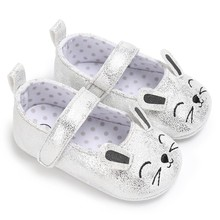 Newborn Baby Kids Shoes Girls Princess Cute Cartoon Cat First Walkers Lovely Newborn Soft Soled Anti-Slip Footwear