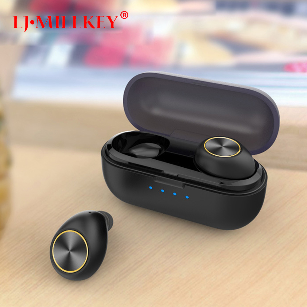 TWS business Bluetooth earphones wireless 3D stereo earphones headset and power bank with microphone handsfree calls YZ152 wireless bluetooth smart cap knitted soft warm beanie hat headphone headset caps handsfree phone calls with microphone black red