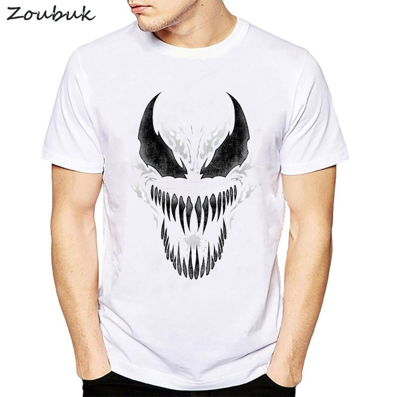 8d7e9a57520007 Detail Feedback Questions about Venom Spiderman Black and White Marvel  Badass T shirt men Tee male cool summer t shirt hipster camisetas hombre  tshirt tops ...
