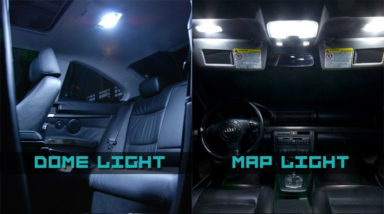 6x Auto LED Interior Package Kit Karte Dome Trunk Cargo Licht Fit ...