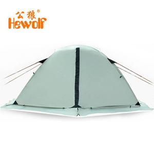 Image 2 - Hewolf Outdoor Four Seasons 2 person winterized winter tent Double layer Beach Tourist camping tent snow skirt