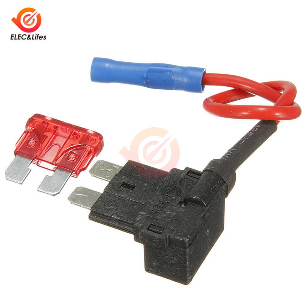 12 В автомобильный флашковый предохранитель держатель Add-a-отвод цепи адаптер микро мини стандарт ATM, APM лезвие Автомобильные предохранители с 10А ампер плавкий предохранитель