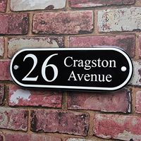 Customize PERSONALISED HOUSE NAME PLAQUE ADDRESS SIGN DOOR NUMBER CLASSIC PROPERTY PLATES