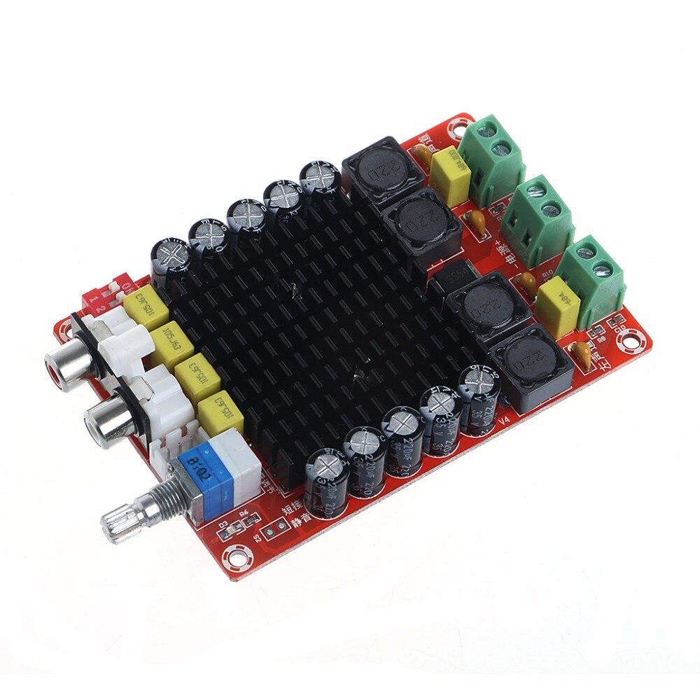 TDA7498 2x100W Digital Power Amplifier Board Class D Dual Audio Stereo DC 14-34V - L060 New hot tda7498 2x100w digital power amplifier board audio amplifier class d dual audio stereo dc 14 34v for home theater active speaker