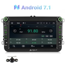 Pumpkin 2 Din 8''Android 7.1 Car Radio No DVD Player GPS Navigation Quad-Core 2G RAM 16G ROM Car Stereo For VW/Skoda/Seat/Golf