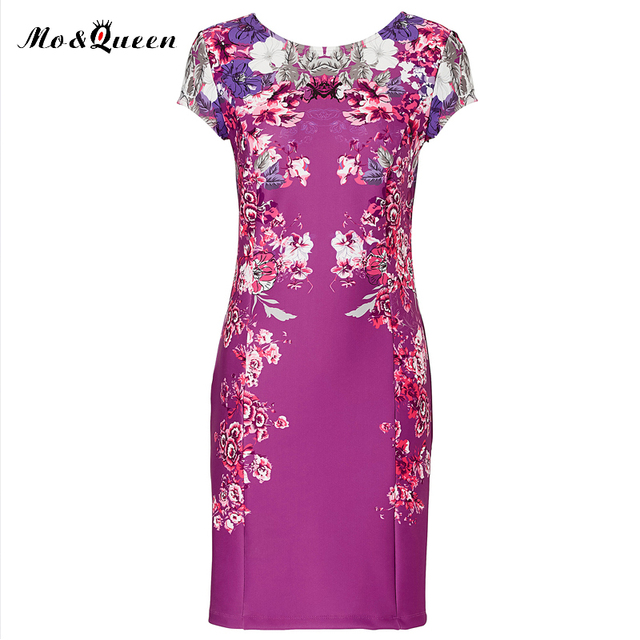 MOQUEEN New Floral Summer Dress Women 2017 Elegant Bodycon Party Dress Fashion Casual Purple Red Ladies Vestidos Backless Dress