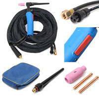 WP 17FV 12 Foot 150Amp Tig Welding Torch Complete With Flexible Valve Head Set Hot Sale
