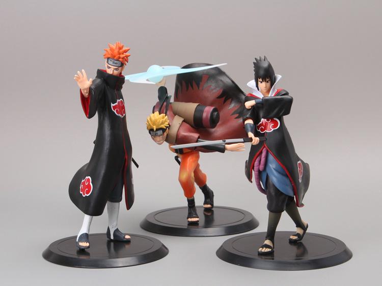 NARUTO Figure Uzumaki Naruto + Uchiha Sasuke + Pain 3 Piece Set 3