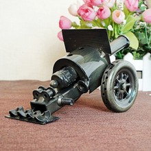 mini delicate collectible handmade metal handicraft ancient weapon cannon model toys for children home decor ornaments