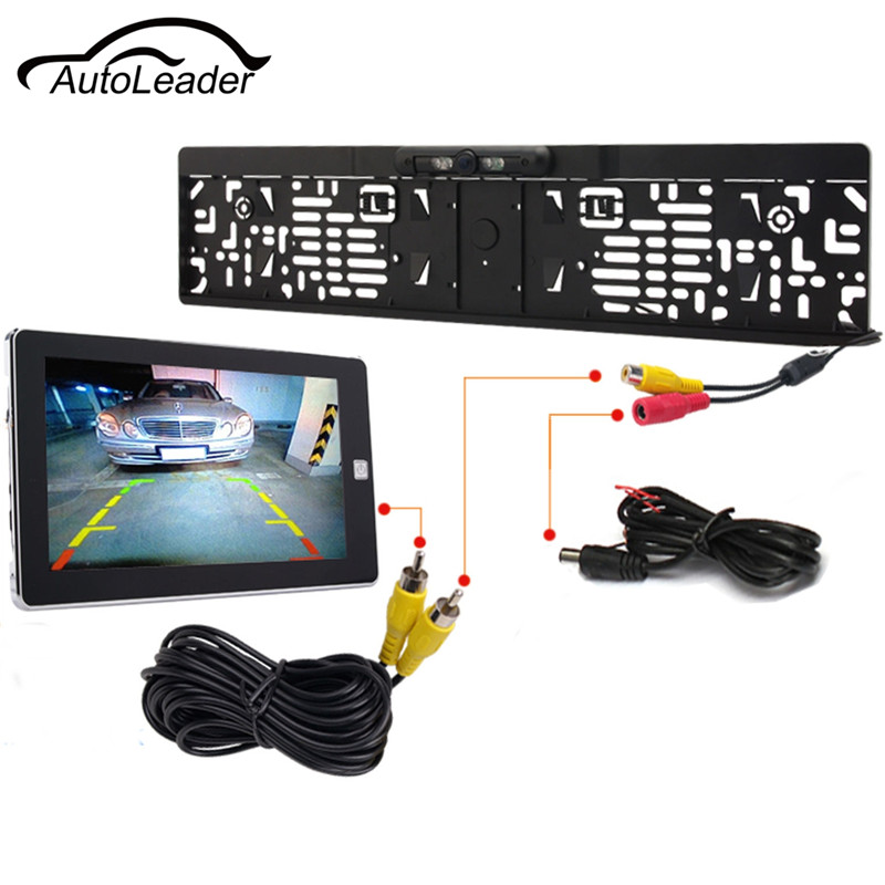 EU Waterproof European License Plate Frame Rear View Camera Auto Car Reverse Backup Parking Camera Night
