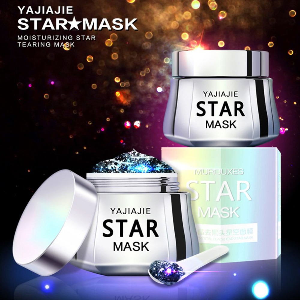 50G Whitening Glitter Peel Off Star Face Mask Facial Care Blackhead Remover Moisturizing Cleansing Firming Face Masks Skin Care aliver 300pcs purifying blackhead remover peel off black facial mask for men face skin care free shipping by dhl