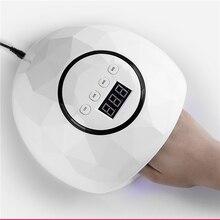 Новейший светодиодный светильник высокой мощности 86 Вт для полировки ногтей, УФ светодиодный гель с датчиком, таймером, ЖК-дисплеем, инструмент для маникюра и дизайна ногтей