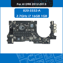 Laptop Logic Board 2.7GHz i7 16GB 1GB 820-3332-A for Macbook Pro Retina 15″ A1398 Motherboard Replacement Early 2013