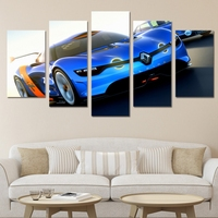 5 Panel Home Decor Renault Alpine Sport Car Canvas Painting Wall Art Pictures Modern HD Canvas