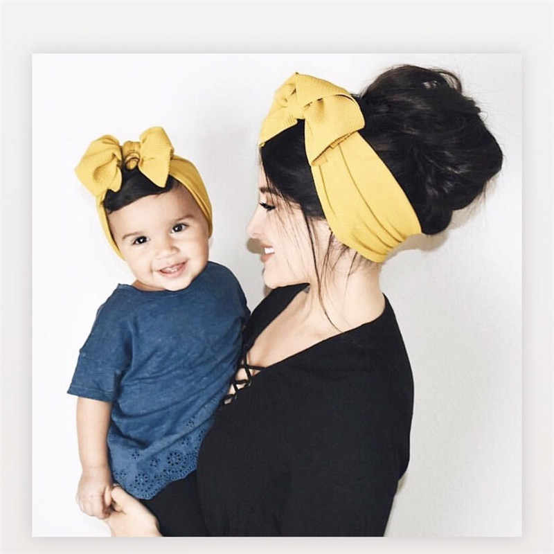 Baby and mom Textured Headwrap Pre-tied headwrap, super soft and stretchy Hair Bows  Kids headband Hair Accessories