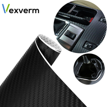 127cmx30cm Car Sticker Decals 3D Carbon Fiber Vinyl Film Waterproof Car Wrap Sticker for Motorcycle Auto Car Styling Automobile цены онлайн
