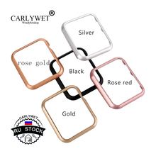 CARLYWET RU STOCK Replacement Aluminum Metal Frame Holder Case Cover Bezel For Apple Iwatch 38mm or 42mm Smart Watch Band