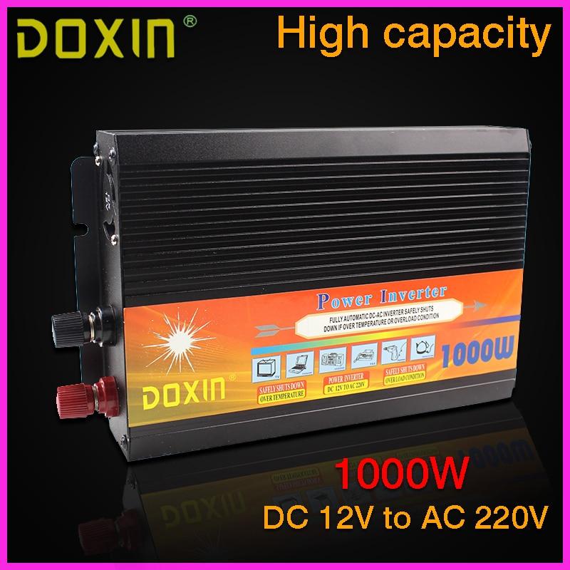 цена  new 2014 DOXIN 1000W household car power inverter converter DC 12V to AC 220V car battery charger Car Power Supply ST-N048  онлайн в 2017 году