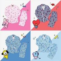 Korean Star BT21 Kawaii Cartoon Soft Pajamas Sleepwear Kpop BTS Bangtan Boys Fashion CHIMMY TATA KOYA RJ COOKY SHOOKY MANG VAN