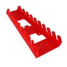 Пластиковая Красная 9 Слот полка для гаечных ключей Стандартный Органайзер держатель инструменты Настенный#15 июля