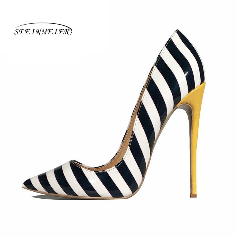 Steinmeier escarpins femmes Chaussures 12 cm 10 cm 8 cm sans lacet peu profonde fête de mariage bout pointu talons hauts pompe Chaussures Femme