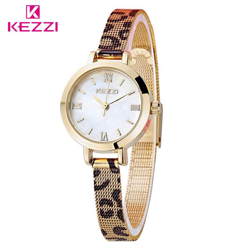 KEZZI Brand Female High Quality Leopard Bracelet Quartz Watch Ladies Small Dial Nobility Luxury Valentine Gift Clock WristWatch hot sales kezzi brand luxury bracelet watches women fashion design quartz wristwatches love shape dial female gift clocks