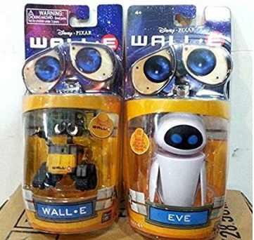 เด็กของเล่นเด็กวันเกิดคริสต์มาสของขวัญภาพยนตร์การ์ตูนผนังของเล่นเด็ก (2 ชิ้น/เซ็ต) walle Eve ของเล่นหุ่นยนต์ Wall - E ตุ๊กตาโดย Supertoy