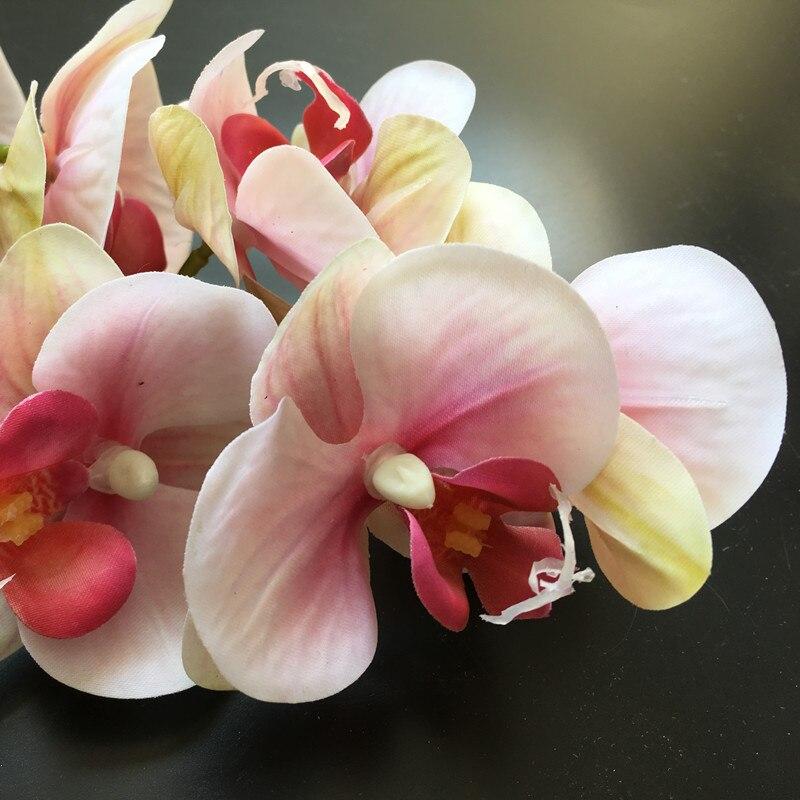 Rose 2 Chefs Phalaenopsis Grande Orchidée 90 cm PU Latex Fleur Real Touch Orchidée Artificielle Fleur Fleur De Mariage Livraison Gratuite
