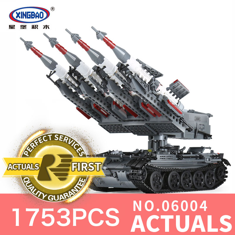 Xingbao 06004 1753Pcs The Military Series The SA-3 missile and T55 Tank Set Educational Building Blocks Bricks Toys Model the new hot promotions 1 30 military vehicles dongfeng 11a missile launch vehicle model alloy office decoration