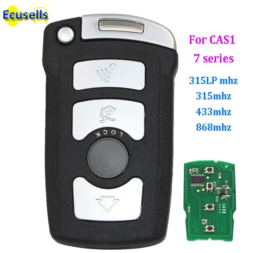 4 кнопки, полный пульт дистанционного ключа Fob 315LP МГц 433 МГц 868 МГц для BMW 7 серии E65 E66 с чипом ID7944/ID46 CAS1 HU92 UNCUT