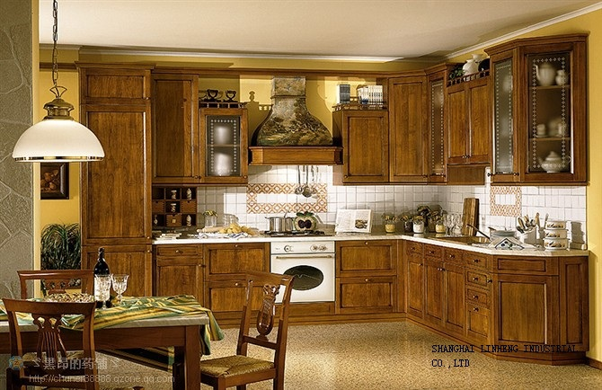 Wooden kitchen cabinet and...
