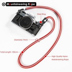 Image 5 - Mountaineering Nylon Rope Camera Shoulder Neck Strap Belt for Mirrorless Digital Camera Leica Canon Nikon Olympus Pentax Sony