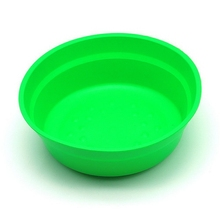 1pc Hot Green Rounded Rubber Fishing Mix Bait Lure Basin Food Pot Bowl