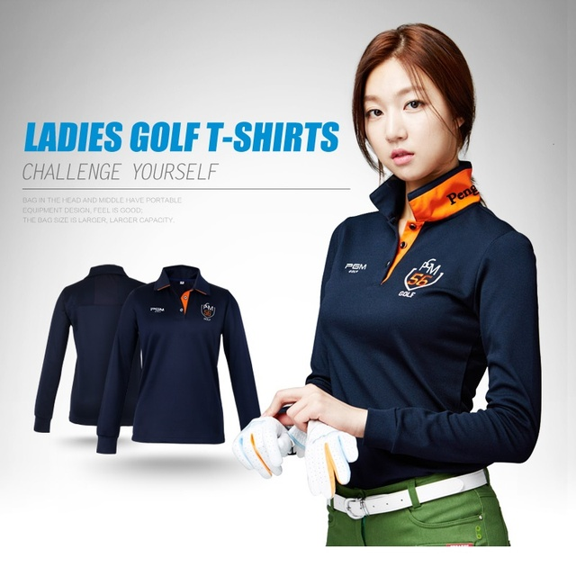 1a338c773458f1 New Womens Golf Polo Shirts Long Sleeve Autumn Winter Golf Shirts Polo  Hombre Ladies Golf Clothing Apparel Quick Dry