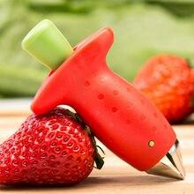 Кухонные гаджеты, новинка, удалитель клубники, инструмент для удаления листьев, фруктов, овощей, помидор, простой в использовании и высокопр...