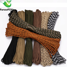 FervorFOX 90 color Paracord 550 Parachute Cord Lanyard Rope Mil Spec Type III 7 Strand 100FT Climbing Camping survival equipment paracord 550 rope type iii 7 stand 100ft paracord parachute cord outdoor camping survival kit wholesale