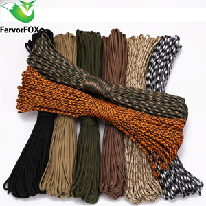 FervorFOX 90 color Paracord 550 Parachute Cord Lanyard Rope Mil Spec Type III 7 Strand 100FT Climbing Camping survival equipment