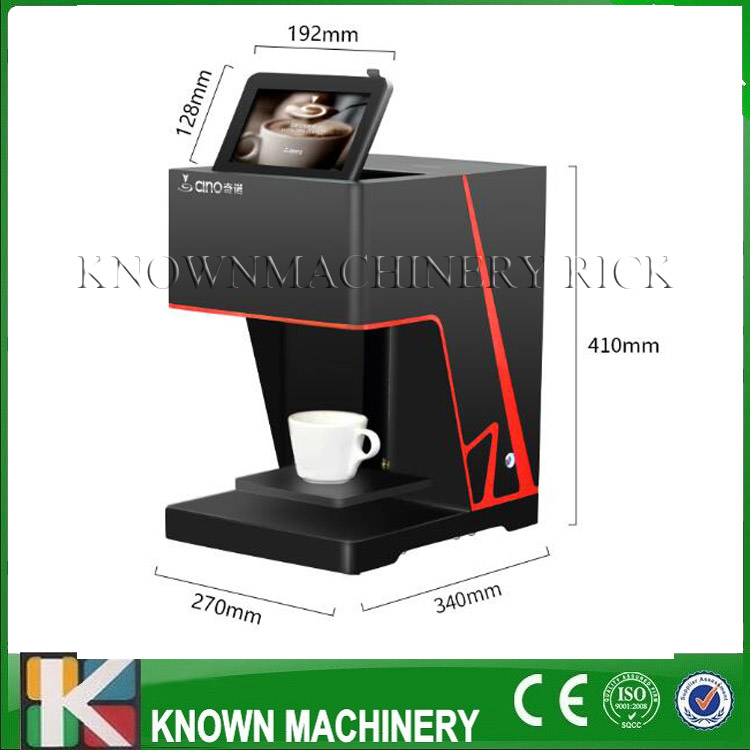 Hot saling black technology flowers ten seconds Coffee 3D Printer with food grade certification flsun 3d printer big pulley kossel 3d printer with one roll filament sd card fast shipping
