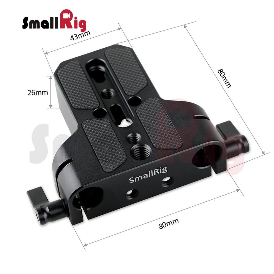 SmallRig Uniwersalny niski profil Dslr Camera Base Plate z 15mm Rod - Aparat i zdjęcie - Zdjęcie 3