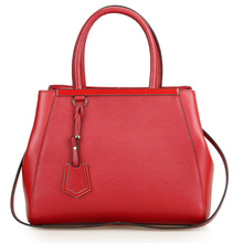 Fashion brand cross pattern women genuine leather handbags All-match Simple leisure  shoulder bags