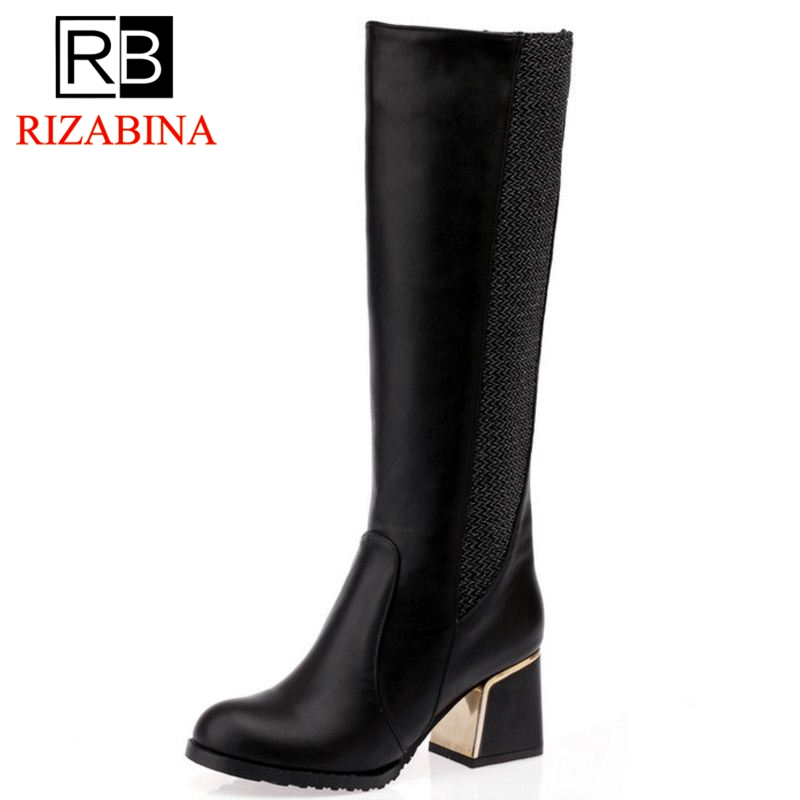 RIZAOBINA women square heels over knee high heel boots women snow fashion winter warm footwear shoes boot P15645 EUR size 30-49 free shipping over knee high heel boots women snow fashion winter warm footwear shoes boot p15646 eur size 30 49