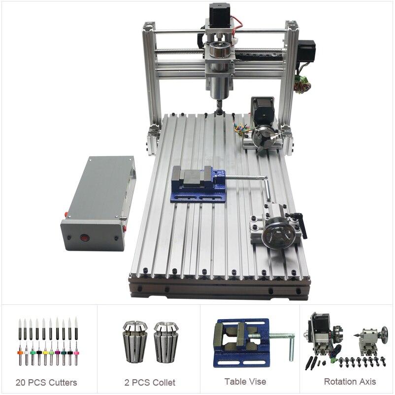 Router di CNC di DIY 3060 Metallo Mini Macchina di Fresatura CNC per Legno PCB Intagliare