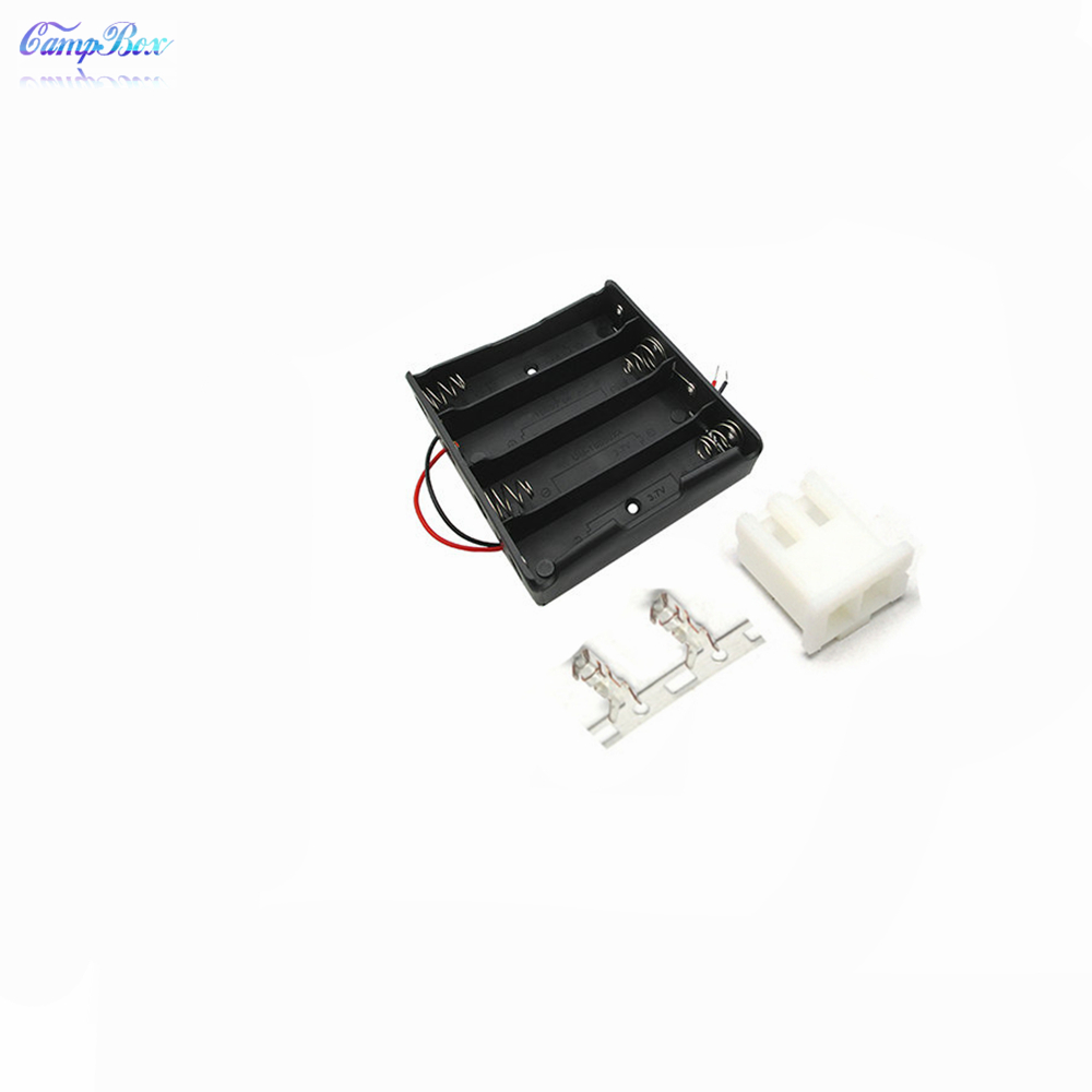 50Pcs 4x18650 Battery Case Holder Socket Wire Junction Box With 15cm Wires XH 2 54 Header