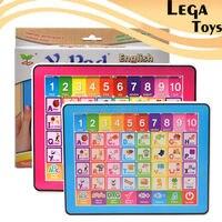 ABC אנגלית צעצועי מחשב חינוכיים לילדים, Ypad למידה לילדים מכונה Tablet מתנה עם 10 מספר ואותיות 26 ללמוד
