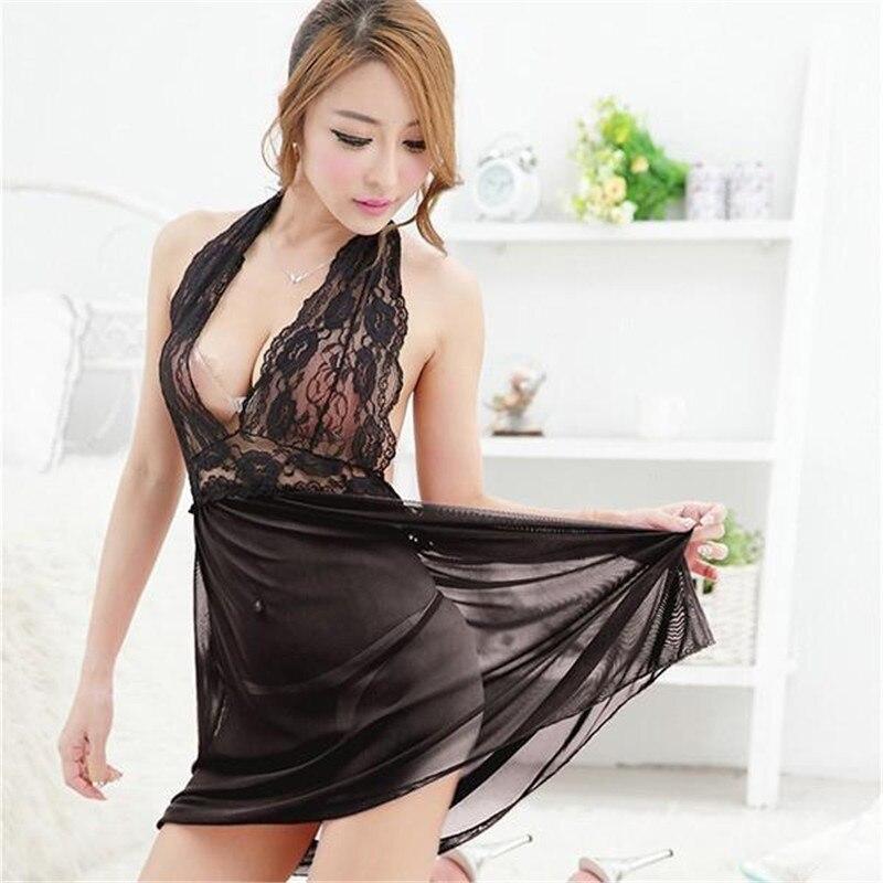 86c2c0760cd Women s Sexy Lingerie Underwear Nightwear Babydoll Sleepwear Dress G-string  Underwear Pajamas
