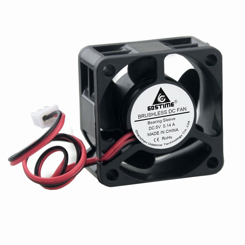 Gdstime 1 Piece 40mm x <font><b>20mm</b></font> DC <font><b>5V</b></font> 2Pin Mini Brushless Axial Flow Cooling <font><b>Fan</b></font> 40x40x20mm 4020 Small Motor Cooler 4cm image