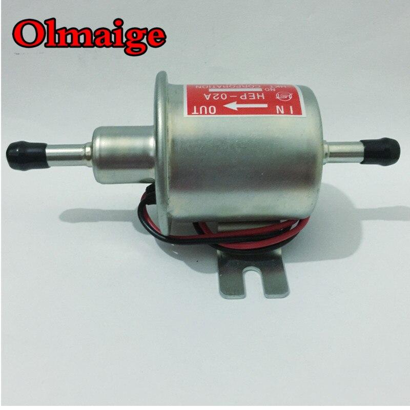 Envío libre gasolina diesel Universal 12 V bomba de combustible eléctrica HEP-02A para carburador, motocicleta, ATV