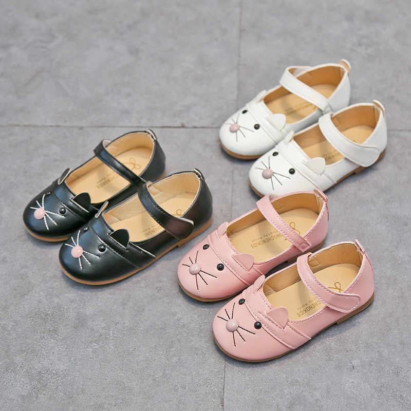 Meisjes Kat Zachte Bodem Sandalen Loafer, cartoon ontwerp casual schoenen, mooie sneaker voor 1y-6y
